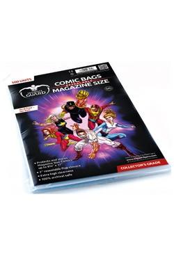 Der Pack enthält 100 hochwertige und wiederverschließbare Schutzhüllen für Comics mit einer Größe bis zu 22,1 x 27,9 cm (8 3/4 x 11 inches).<br /><br />- Extrem hohe Transparenz<br />- 5 cm breite, wiederverschließbare Verschlußlasche<br />- Ohne PVC, säu