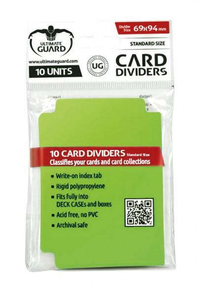 - 10 Kartentrenner<br />- Unterteilt Karten und Kartensammlungen<br />- Stabiles Polypropylen<br />- Beschreibbarer Registerreiter<br />- Passt vollständig in CARD CASEs und Kartenboxen<br />- Säurefrei, kein PVC<br />- Archivierungssicher<br />- Größe: 6
