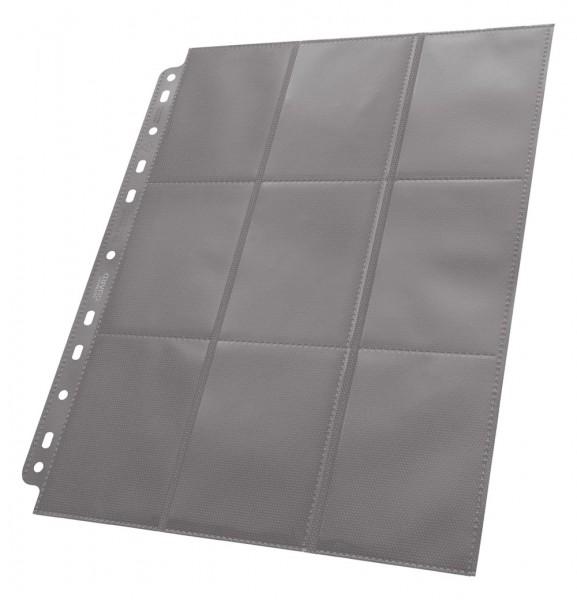 Hochwertige, doppelseitige Ordnerseiten (18 Taschen, 9 Taschen je Vorder- und Rückseite), passend für nahezu jeden Ringordner dank 11er-Lochung mit doppelt verstärkter Lochleiste. Jeder Pack enthält 50 Seiten für den Transport und die sichere Aufbewahrung
