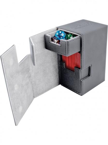 Luxuriöse Kartenbox mit Magnet-Verschluss, innovativer XenoSkin-Oberfläche und Karten- und Zubehörfächern für den Schutz und die archivierungssichere Aufbewahrung von bis zu 80 Karten der Standardgröße (z.B. Magic the Gathering, Pokemon, usw.) in zwei Hül