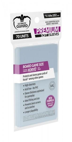 Der Pack enthält 70 hochwertige Kartenhüllen zur Aufbewahrung und zum Schutz von Brettspielkarten, passend für Koryó™ und weitere.- Besonders hohe Transparenz- Säurefrei – Kein PVC- Ideale Hüllengröße- Schützt vor abgeknickten Ecken und Kratzern- Optimier