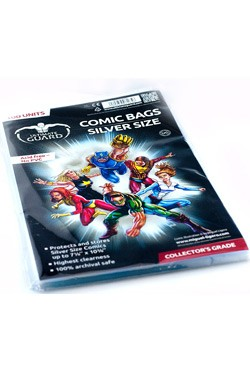 100 hochwertige Schutzhüllen für Comics mit einer Größe bis zu 18,10 x 26,35 cm (7 1/8 x 10 3/8 inches).<br /><br />- Höchste Transparenz<br />- Ohne PVC, säurefrei<br />- Archivierungssicher