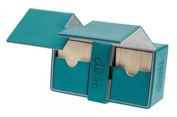 Luxuriöse Kartenbox mit Magnet-Verschluss, innovativer XenoSkin-Oberfläche und Karten- und Zubehörfächern für den Schutz und die archivierungssichere Aufbewahrung von bis zu 160 Karten der Standardgröße (z.B. Magic the Gathering, Pokemon, usw.) in zwei Hü