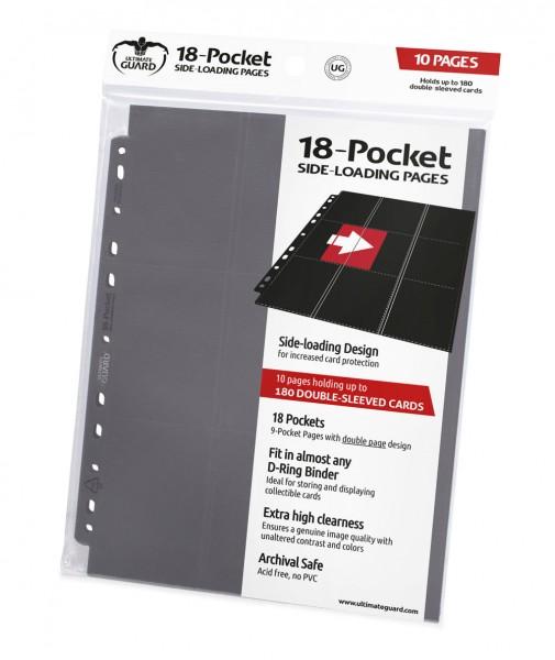 Hochwertige, doppelseitige Ordnerseiten (18 Taschen, 9 Taschen je Vorder- und Rückseite), passend für nahezu jeden Ringordner dank 11er-Lochung mit doppelt verstärkter Lochleiste. Jeder Pack enthält 10 Seiten für den Transport und die sichere Aufbewahrung
