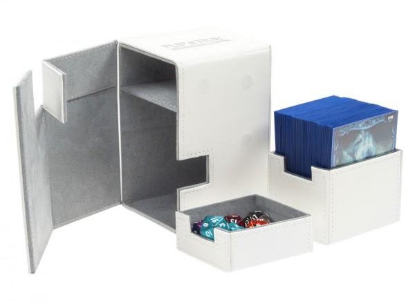 Luxuriöse Kartenbox mit Magnet-Verschluss, innovativer XenoSkin-Oberfläche und Karten- und Zubehörfächern für den Schutz und die archivierungssichere Aufbewahrung von bis zu 100 Karten der Standardgröße (z.B. Magic the Gathering, Pokemon, usw.) in zwei Hü