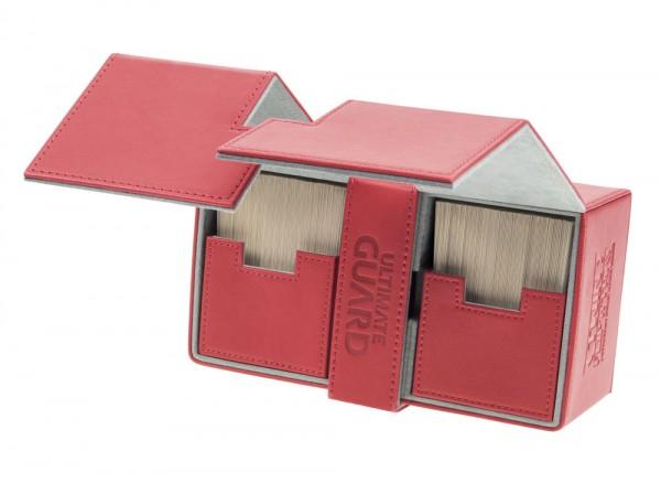 Luxuriöse Kartenbox mit Magnet-Verschluss und Karten- und Zubehörfächern für den Schutz und die archivierungssichere Aufbewahrung von bis zu 200 Karten der Standardgröße (z.B. Magic the Gathering (TM), Pokemon (TM), usw.) in zwei Hüllen (double-sleeved).-